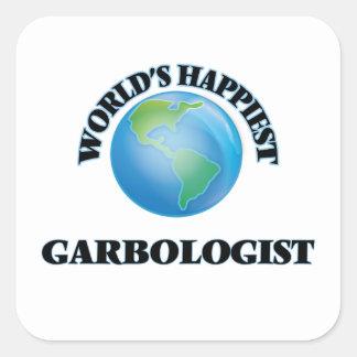 World's Happiest Garbologist Square Sticker