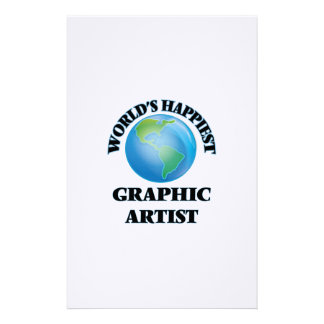 World's Happiest Graphic Artist Stationery