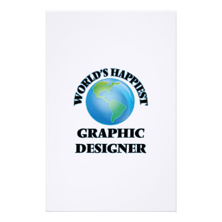 World's Happiest Graphic Designer Stationery