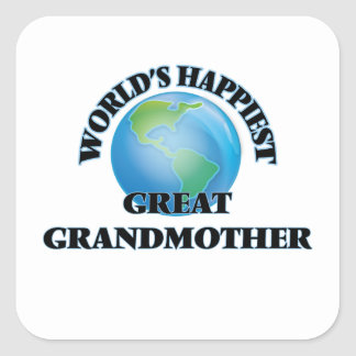 World's Happiest Great Grandmother Square Sticker
