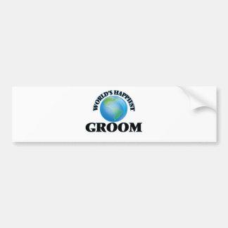 World's Happiest Groom Bumper Sticker