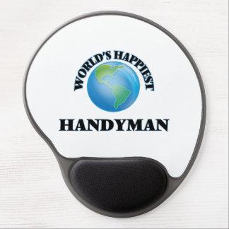 World's Happiest Handyman Gel Mouse Pad