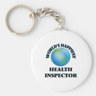 World's Happiest Health Inspector Basic Round Button Keychain