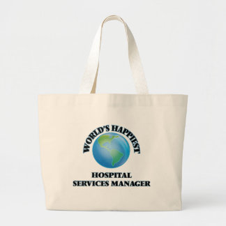 World's Happiest Hospital Services Manager Jumbo Tote Bag
