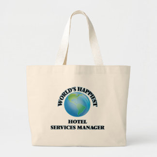 World's Happiest Hotel Services Manager Jumbo Tote Bag