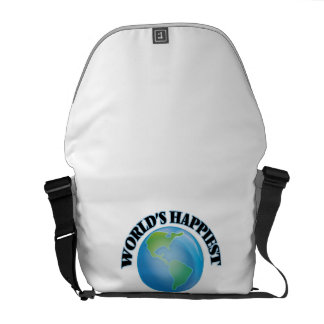 World's Happiest Information Scientist Courier Bags