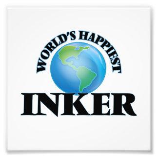 World's Happiest Inker Photo Print