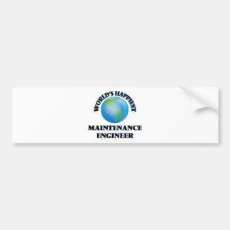 World's Happiest Maintenance Engineer Bumper Sticker