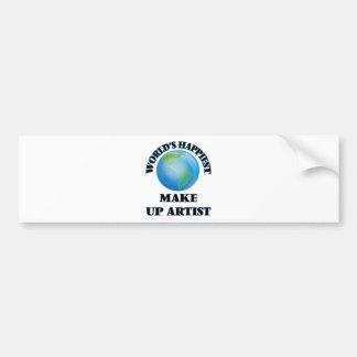World's Happiest Make Up Artist Bumper Sticker