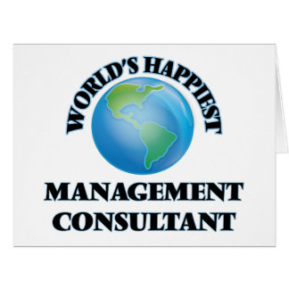 World's Happiest Management Consultant Large Greeting Card