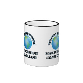 World's Happiest Management Consultant Ringer Coffee Mug