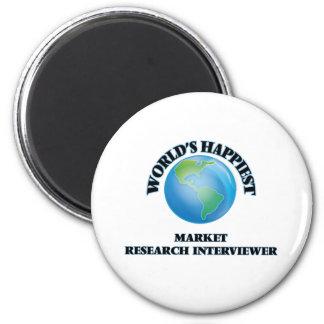 World's Happiest Market Research Interviewer 2 Inch Round Magnet