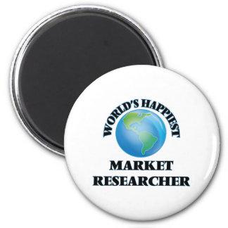 World's Happiest Market Researcher 2 Inch Round Magnet