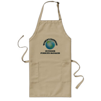 World's Happiest Outdoor Pursuits Manager Long Apron