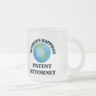 World's Happiest Patent Attorney Frosted Glass Mug