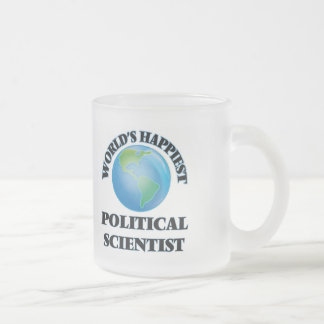 World's Happiest Political Scientist Frosted Glass Mug