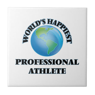 World's Happiest Professional Athlete Small Square Tile