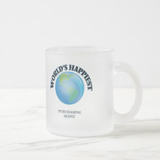 World's Happiest Purchasing Agent Frosted Glass Mug