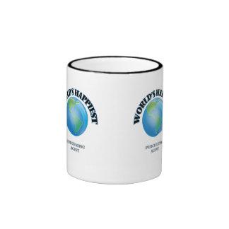 World's Happiest Purchasing Agent Ringer Coffee Mug