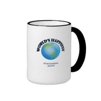 World's Happiest Purchasing Agent Ringer Mug