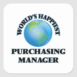 World's Happiest Purchasing Manager Square Sticker