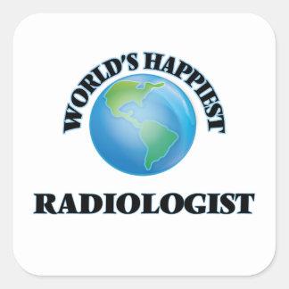 World's Happiest Radiologist Square Sticker
