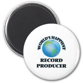 World's Happiest Record Producer 6 Cm Round Magnet