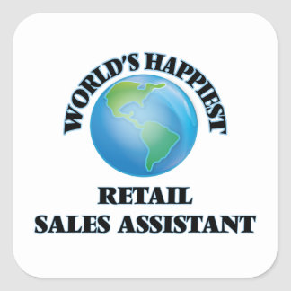 World's Happiest Retail Sales Assistant Square Sticker