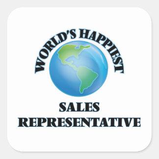 World's Happiest Sales Representative Square Sticker
