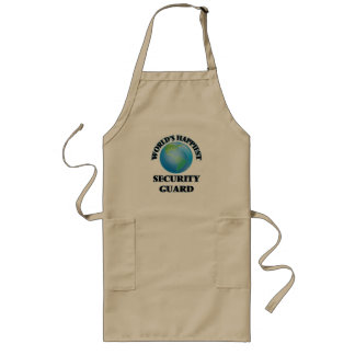 World's Happiest Security Guard Long Apron