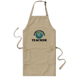 World's Happiest Teacher Long Apron