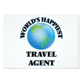 World's Happiest Travel Agent 13 Cm X 18 Cm Invitation Card