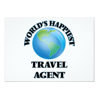 "World's Happiest Travel Agent 5"" X 7"" Invitation Card"