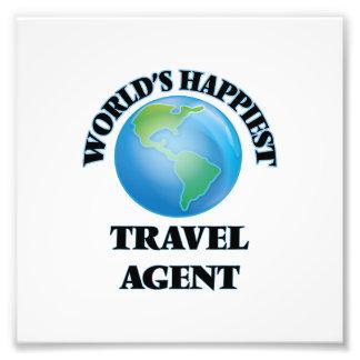 World's Happiest Travel Agent Photo Print