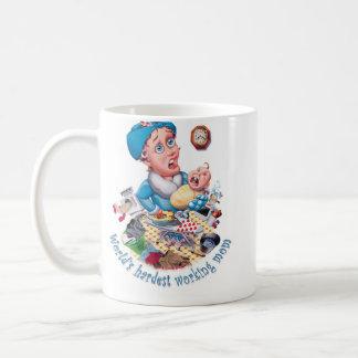 World's hardest working mum basic white mug