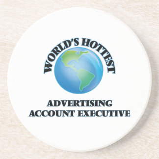 World's Hottest Advertising Account Executive Beverage Coasters