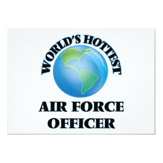 World's Hottest Air Force Officer Custom Invitations