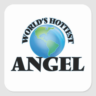 World's Hottest Angel Square Stickers