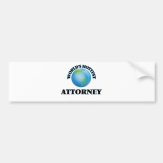 World's Hottest Attorney Bumper Stickers