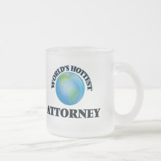 World's Hottest Attorney Frosted Glass Mug
