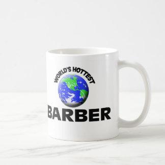 World's Hottest Barber Basic White Mug