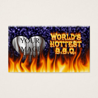 World's hottest BBQ fire and flames blue marble