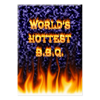 World's hottest BBQ fire and flames blue marble Pack Of Chubby Business Cards