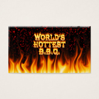 World's hottest BBQ fire and flames red marble.