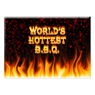 World's hottest BBQ fire and flames red marble. Pack Of Chubby Business Cards