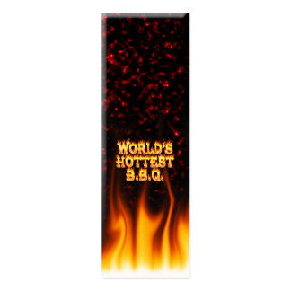 World's hottest BBQ fire and flames red marble. Pack Of Skinny Business Cards