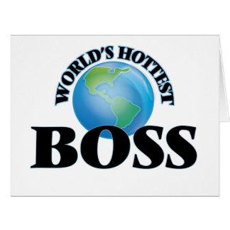 World's Hottest Boss Card