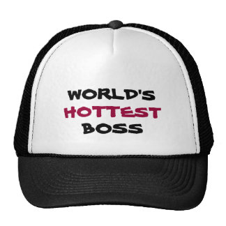 WORLD'S, HOTTEST, BOSS hat