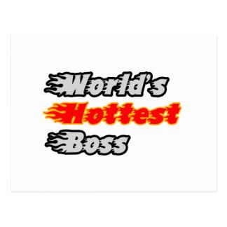 World's Hottest Boss Post Card