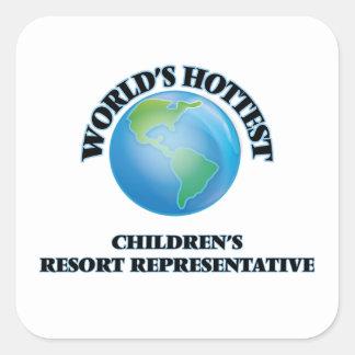 World's Hottest Children's Resort Representative Stickers